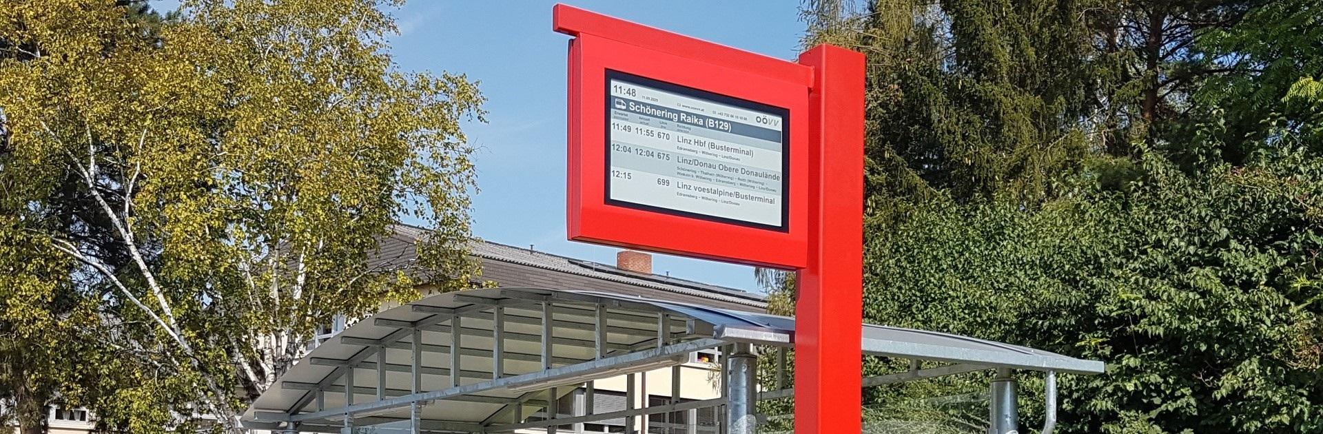 32″ Overhead passenger information