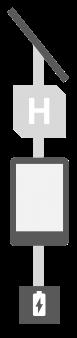 """13"""" E-Paper Outdoor Ausführung Solarmodul"""